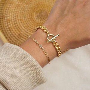 Arlo 14k Gold Filled Cuban Chain Toggle Bracelet